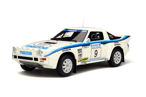 OttO mobile 1/18scale Mazda RX-7 group B Acropolis 1985 White/Blue [No.OTM226]