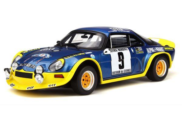 OttO mobile 1/18scale Alpine A110 Turbo Cévennes Rallye Blue/Yellow limited 2000pcs  [No.OTM249]