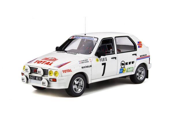 OttO mobile 1/18scale Citroën Visa 1000 Pistes Gr.B Monte-Carlo 1985 (White) [No.OTM306]