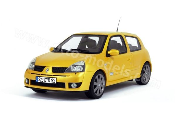 OttO mobile 1/18scale Renault Clio 2 RS Phase 3 (Yellow)  [No.OTM552]