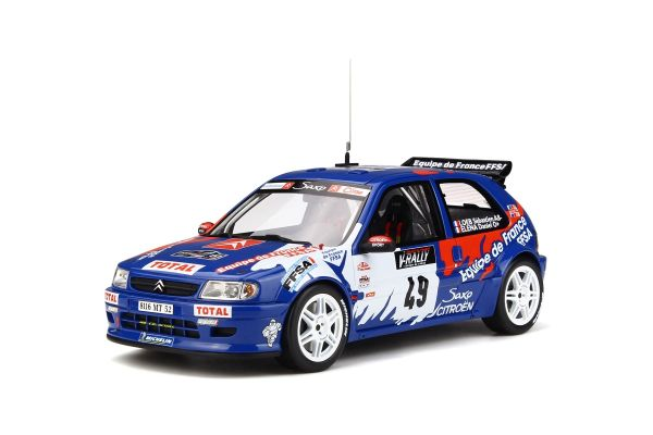 OttO mobile 1/18scale Citroen saxo kit car Tour de Corse (Blue / White / Red) [No.OTM596]