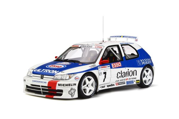 OttO mobile 1/18scale Peugeot 306 Maxi (Mk.1) Tour de Corse (White / Blue / Red)  [No.OTM664]