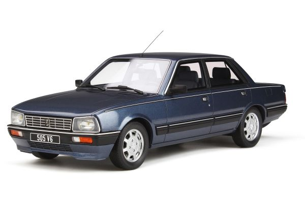 OttO mobile 1/18scale Peugeot 505 V6 (Blue)  [No.OTM687]