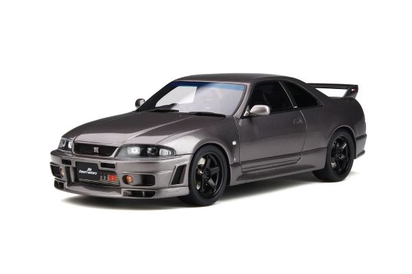 OttO mobile 1/18scale Nissan Skyline GT-R (R33) by Omori Factory (Gray Metallic)  [No.OTM758]