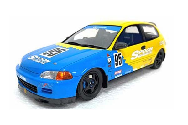 OttO mobile 1/18scale Honda Civic (EG6) Spoon (Blue / Yellow) HK  [No.OTM011RT]
