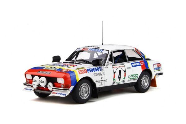 OttO mobile 1/18scale Peugeot 504 Gr.4 Coupe V6 Safari Rally 1978 (White / Blue / Red)  [No.OTM309]