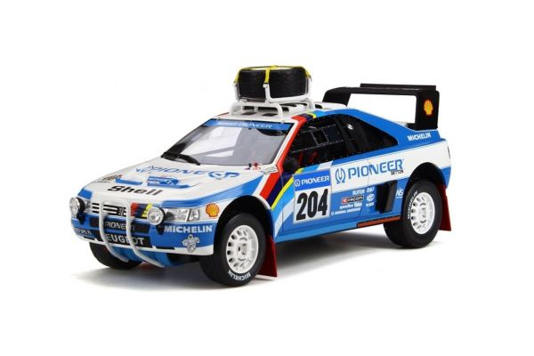 OttO mobile 1/18scale Peugeot 405 T16 Grand Raid # 204 (White / Blue)  [No.OTM808]