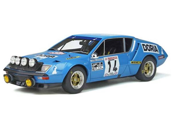 OttO mobile 1/18scale Alpine A310 1600 Gr.4 # 14 (Blue) Limited to 1,500 pieces worldwide  [No.OTM813]