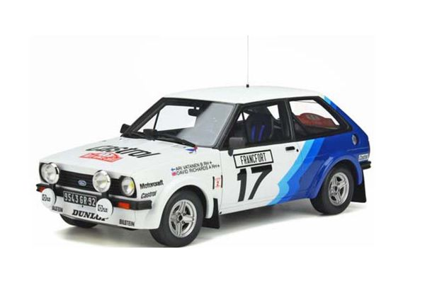OttO mobile 1/18scale Ford Fiesta XR2 Gr.2 # 17 1979 (White / Blue) Limited to 2,500 pieces worldwide  [No.OTM894]