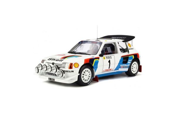 OttO mobile 1/12scale Peugeot 205 T16 Evo 2 Rally Monte Carlo 1986 (White / Blue)  [No.OTMG027]
