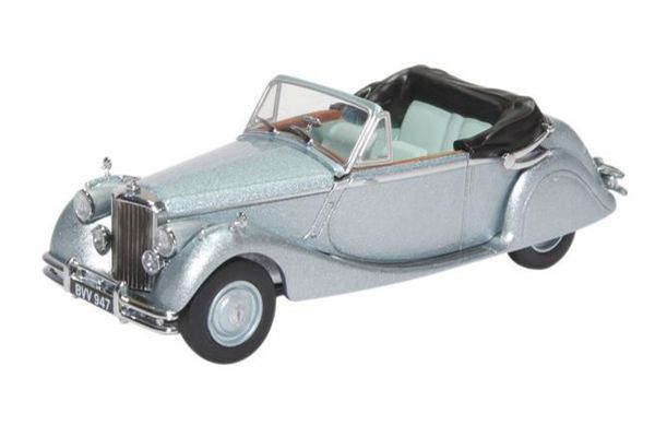 OXFORD 1/43scale Jaguar Mkv DHC Open Opalescent Silver  [No.OX43JAG5001]