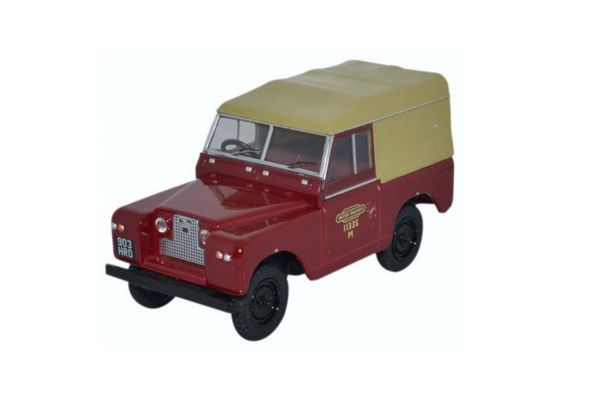 OXFORD 1/43scale Land Rover Series II SWB Canvas Truck British Rail  [No.OX43LR2S002]