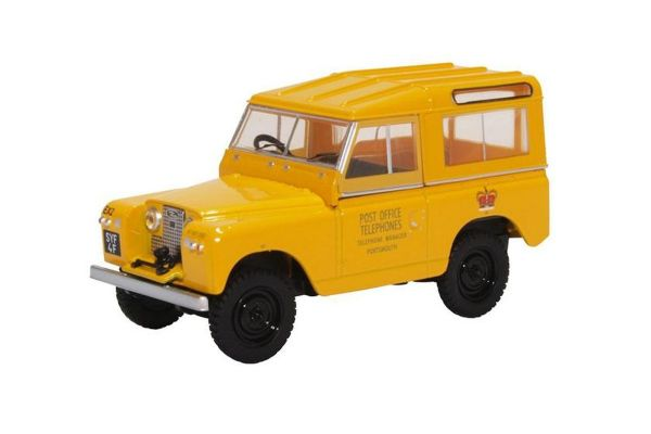 OXFORD 1/43scale Land Rover Series II SWB Hard Top Post Office Telephones (Yellow)  [No.OX43LR2S004]