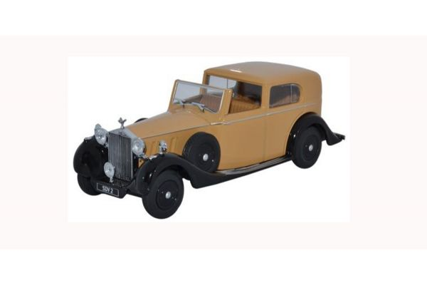 OXFORD 1/43scale Rolls Royce Phantom III SDV Hj Mulliner Light Yellow Brown/Black  [No.OX43RRP3002]