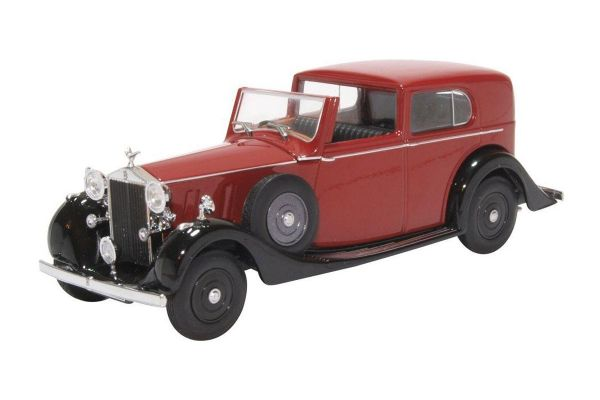 OXFORD 1/43scale Rolls Royce Phantom III SDV Mulliner Claret and Black  [No.OX43RRP3003]