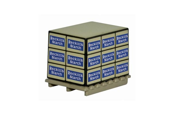 OXFORD 1/76scale Pallet Loads Reckitts Starch * 4  [No.OX76ACC007]