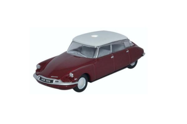 OXFORD 1/76scale Citroen DS19 Regal Red / White  [No.OX76CDS004]