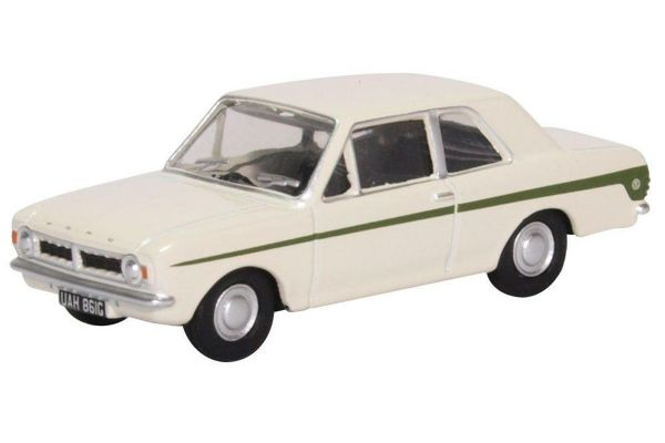 OXFORD 1/76scale Ford Cortina MK2 Ermine White Sherwood Green  [No.OX76COR2008]