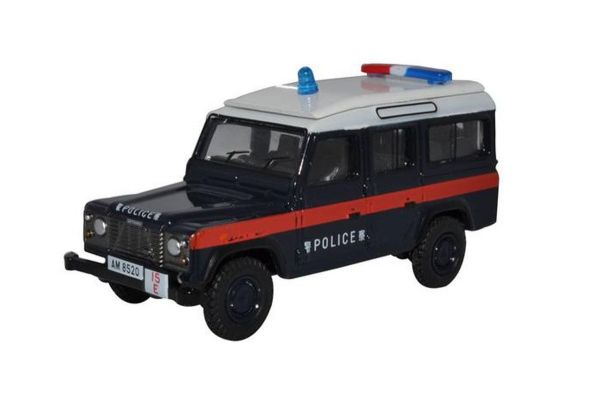 OXFORD 1/76scale Land Rover Defender LWB Station Wagon Hong Kong Police  [No.OX76DEF016]