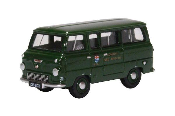 OXFORD 1/76scale Ford 400e Minibus London Fire Brigade - Green  [No.OX76FDE016]