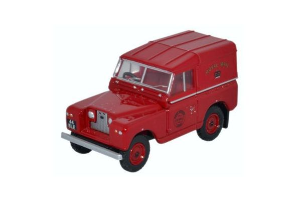 OXFORD 1/76scale Land Rover Series IIA SWB Hard Top Royal Mail (PO Recovery) Red  [No.OX76LR2AS01]