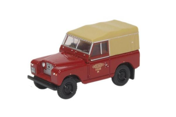 OXFORD 1/76scale Land Rover Series II SWB British Rail Red with Hood  [No.OX76LR2S002]