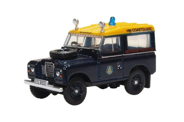 OXFORD 1/76scale Land Rover Series 3 SWB Station Wagon HM Coastguard  [No.OX76LR3S007]