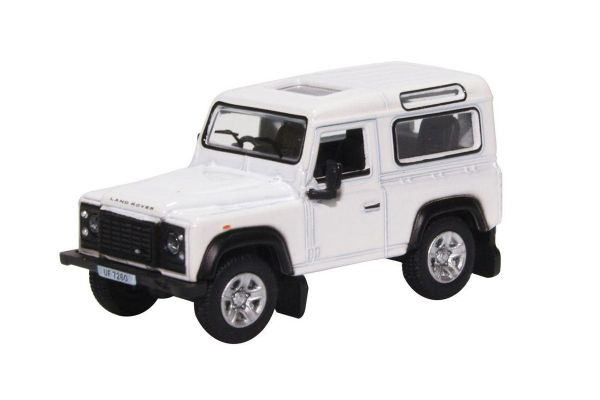 OXFORD 1/76scale Land Rover Defender 90 Station Wagon White (HK Reg)  [No.OX76LRDF012]