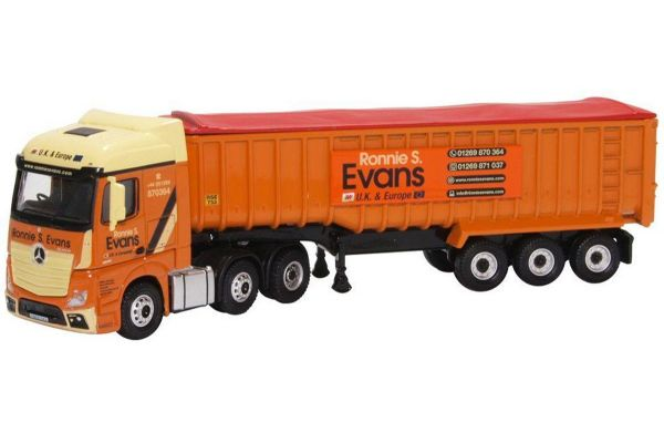 OXFORD 1/76scale Mercedes Actros SSC Tipper Ronnie S Evans  [No.OX76MB008]