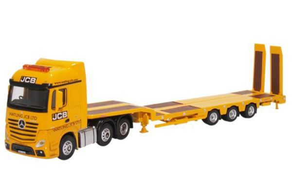 OXFORD 1/76scale Mercedes Actros Semi Low Loader JCB  [No.OX76MB010]