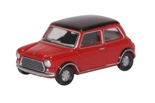 OXFORD 1/76scale Mini Cooper MKII Tartan Red/Black  [No.OX76MCS003]