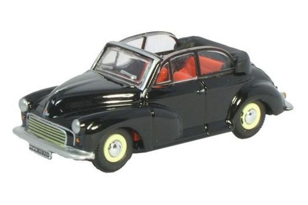 OXFORD 1/76scale The Morris Minor Soft top Convertible Open Black/Grey  [No.OX76MMC002]