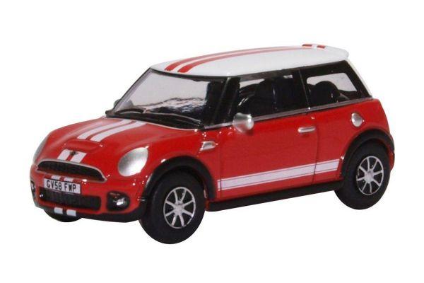 OXFORD 1/76scale New Mini Chili Red and White  [No.OX76NMN007]