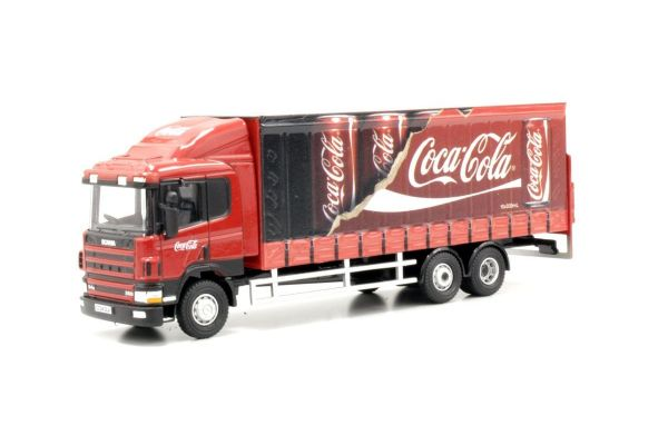 OXFORD 1/76scale Scania 94D 6 Wheel curtain side Coca Cola  [No.OX76S9404CC]