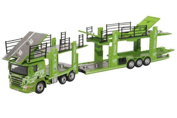OXFORD 1/76scale Scania Car Transporter Green Tige  [No.OX76SCT004]