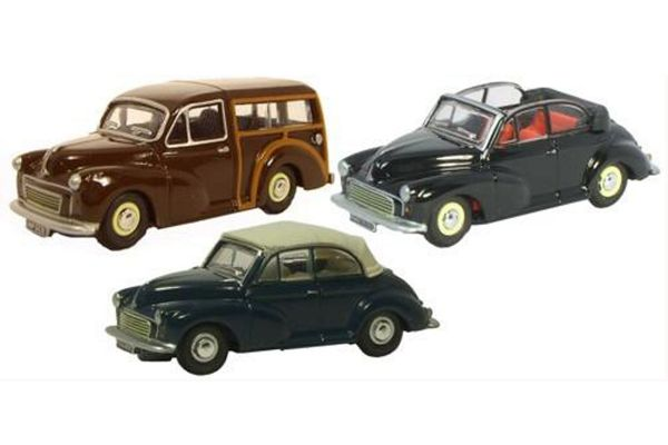 OXFORD 1/76scale Morris Minor 3car set 2017  [No.OX76SET07B]