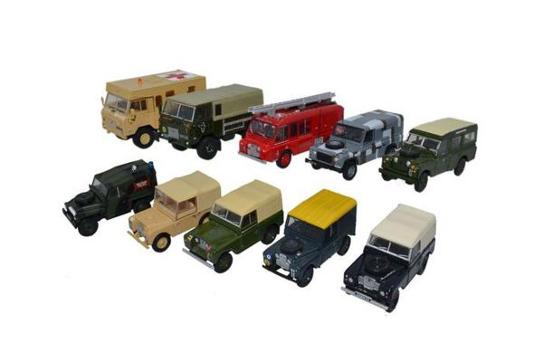 OXFORD 1/76scale Land Rover Military 10car set 2017 [No.OX76SET57]