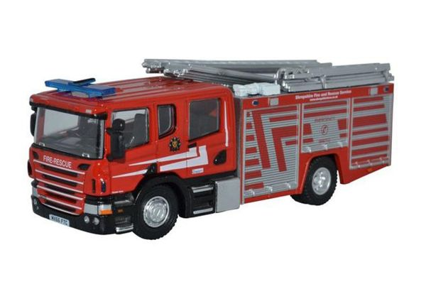 OXFORD 1/76scale Scania CP31 Pump Ladder Shropshire Fire & Rescue  [No.OX76SFE010]