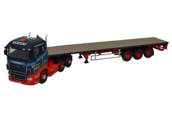 OXFORD 1/76scale Scania High Line Flatbed Trailer Ian Craig Haulage Ltd  [No.OX76SHL01FT]
