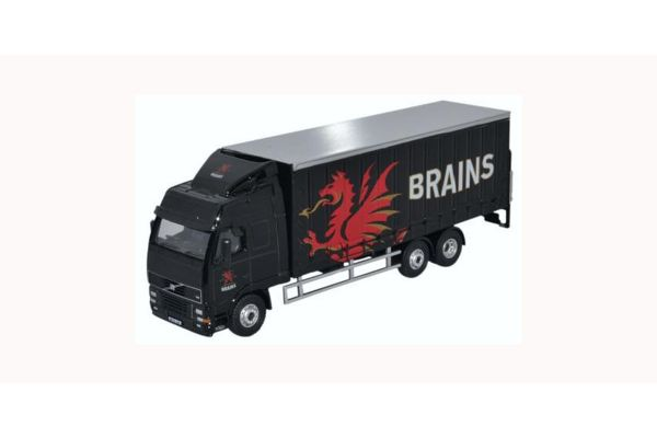 OXFORD 1/76scale Volvo FH Curtainside Lorry Brains  [No.OX76SP113]
