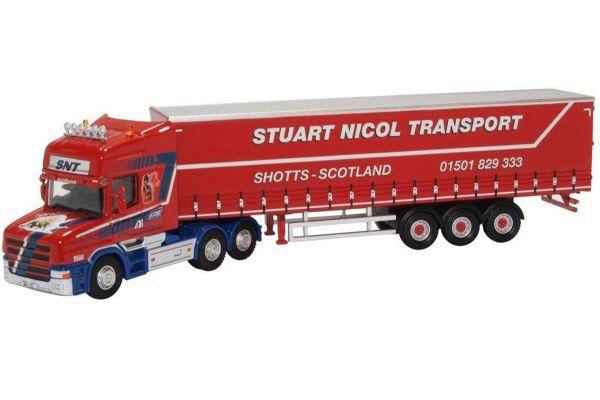 OXFORD 1/76scale Scania T Cab Short Curtainside Stuart Nicol Transport  [No.OX76TCAB010]