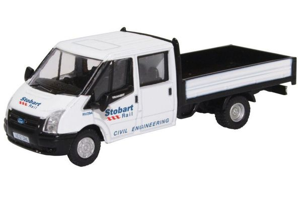 OXFORD 1/76scale Ford Transit Dropside Stobart Rail  [No.OX76TPU001]