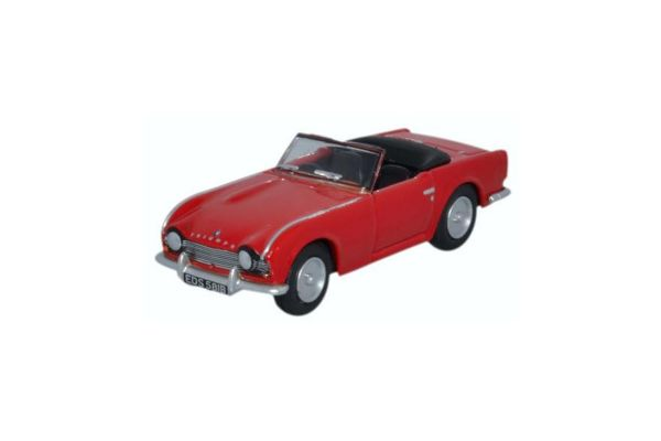 OXFORD 1/76scale Triumph TR4 (signal red)  [No.OX76TR4001]