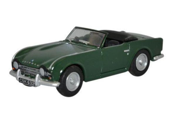 OXFORD 1/76scale Triumph TR4 British Racing Green  [No.OX76TR4002]