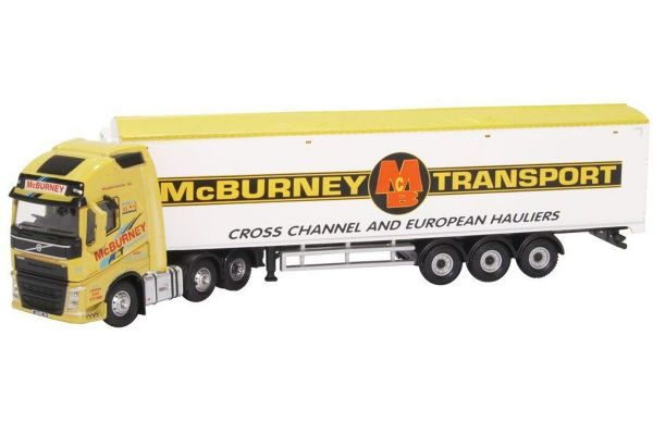 OXFORD 1/76scale Volvo FH4 GXL Walking Floor McBurney Transport  [No.OX76VOL4008]