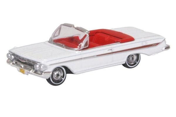 OXFORD 1/87scale Chevrolet Impala 1961 White  [No.OX87CI61003]