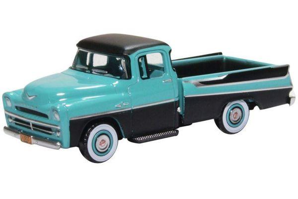 OXFORD 1/87scale Dodge D100 Sweptside Pick Up 1957 Turquoise/Jewel Black  [No.OX87DP57002]