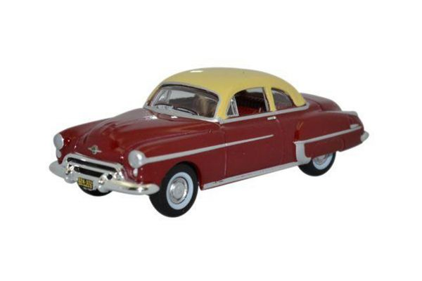 OXFORD 1/87scale Oldsmobile Rocket 88 Coupe 1950 Chariot Red / Canto Cream  [No.OX87OR50001]