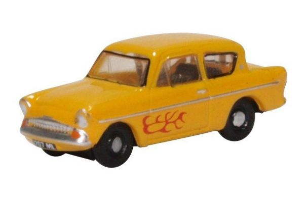 OXFORD 1/148scale Ford Anglia Yellow (Vyvian)  [No.OXN105008]