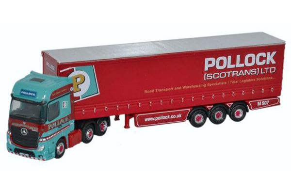 OXFORD 1/148scale Mercedes Actros Curtainside Pollock [No.OXNMB002]